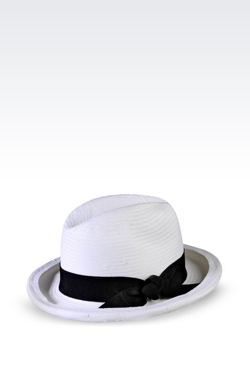 CLASSIC TWO-COLOUR HAT: Hats Women by Armani - 2