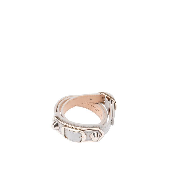 Balenciaga Classic dreisträngiges Armband mit Metall-Rändern