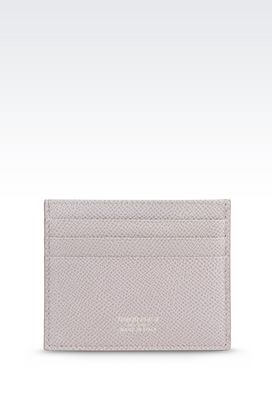 Armani Card holders Women credit card holder in printed calfskin