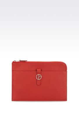 Armani Document holders Women small bag in grained calfskin