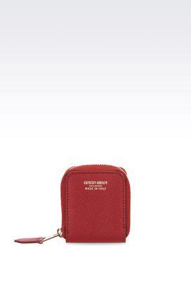 Armani Coin purses Women small coin purse in printed calfskin