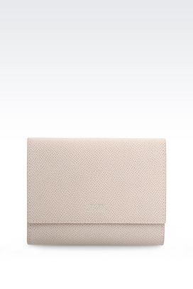 Armani Wallets Women wallet in printed calfskin