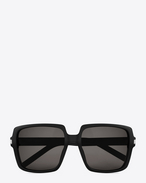 BOLD BETTY 65 Sunglasses in Black Acetate with Brown-Grey Lenses