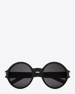 CLASSIC 63 Sunglasses in Black Acetate with Brown-Grey Lenses