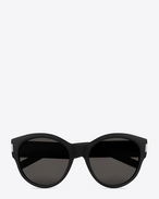 BOLD 67 Sunglasses in Black Acetate with Brown-Grey Lenses