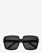BOLD BETTY 65/F Sunglasses in Black Acetate with Brown-Grey Lenses