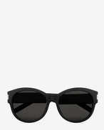 BOLD 67/F Sunglasses in Black Acetate with Brown-Grey Lenses