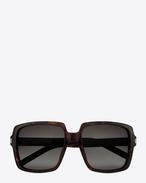 BOLD BETTY 65 Sunglasses in Dark Havana Acetate with Brown Gradient Lenses
