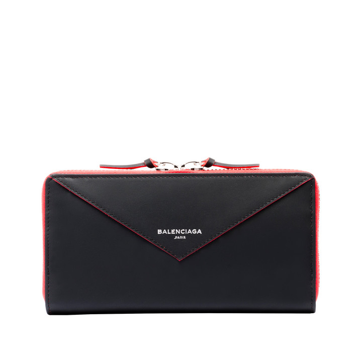 Balenciaga Papier Continental Zip Around Bicolore