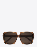 BOLD BETTY 65/F Sunglasses in Light Brown Transparent Acetate with Brown Lenses
