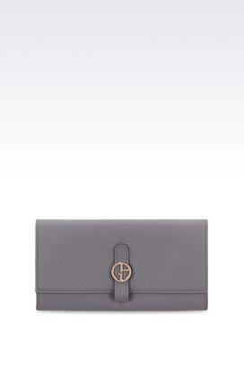 Armani Wallets Women wallet in grained calfskin