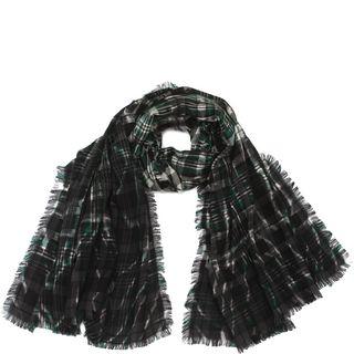 ALEXANDER MCQUEEN, Wool Fashion Scarf, Tartan Tie-dye Scarf