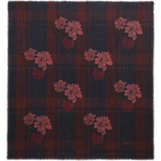 ALEXANDER MCQUEEN, Wool Fashion Scarf, Floral Tartan Scarf