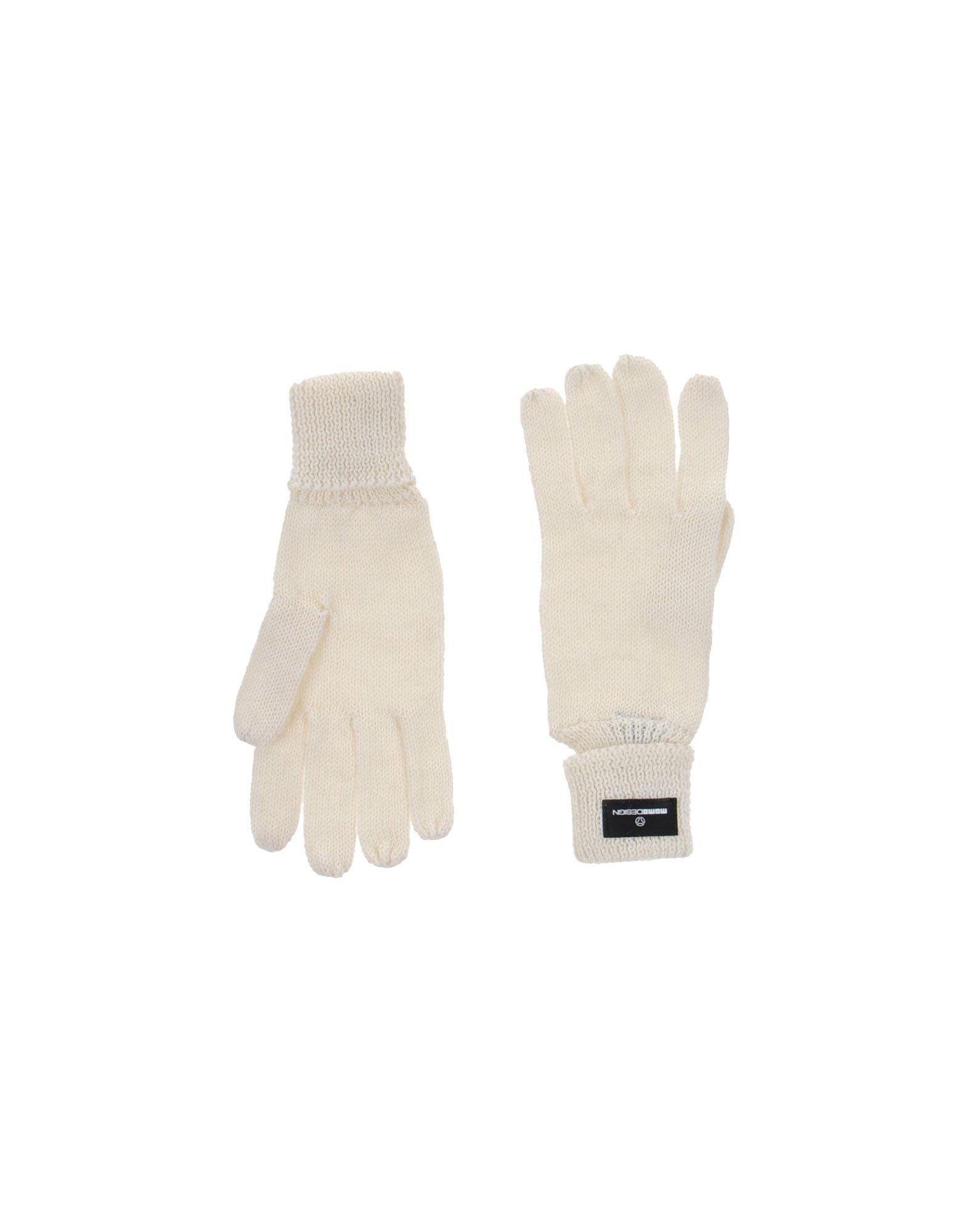 MOMO DESIGN Damen Handschuhe Farbe Elfenbein Größe 1