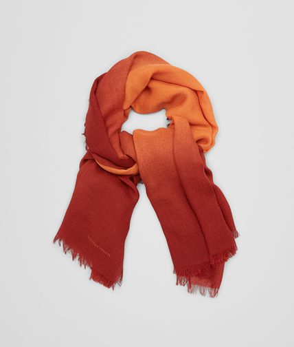 SCARF IN TANGERINE ORANGE WOOL