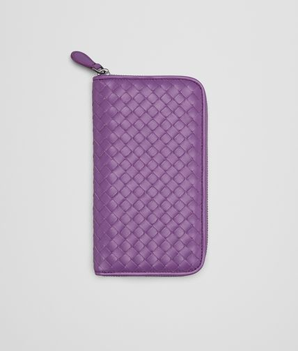BYZANTINE INTRECCIATO NAPPA ZIP AROUND WALLET