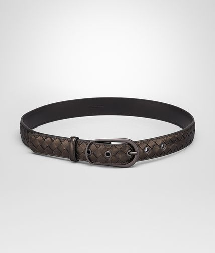 BELT IN BRUNITO INTRECCIATO GROS GRAIN