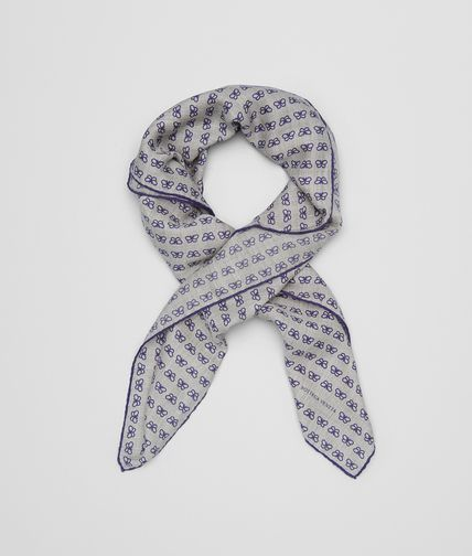 SCARF IN LEAD BLUE CASHMERE SILK