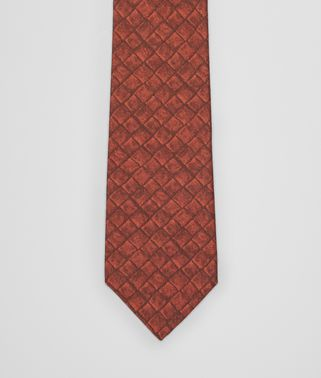 SIENNA ORANGE SILK COTTON TIE