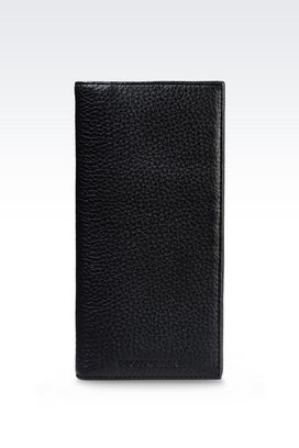 Armani Wallets Men yen wallet in grained calfskin