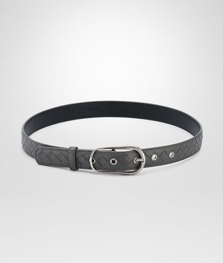 BELT IN NEW LIGHT GREY INTRECCIATO NAPPA