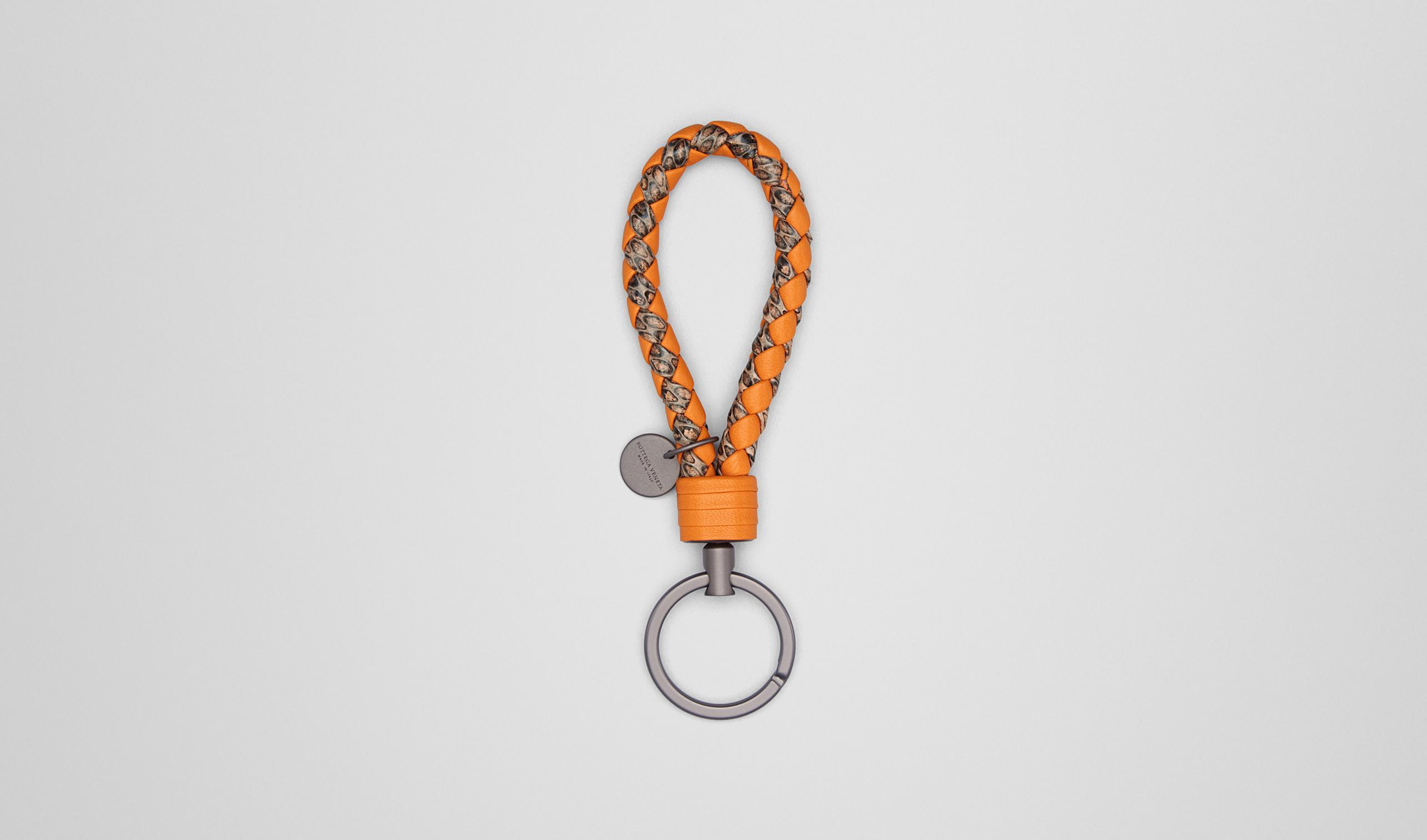 电音蓝水蛇皮编织钥匙扣