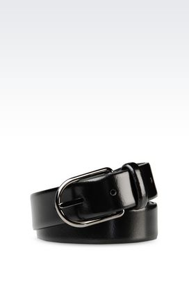 Armani Leather belts Men belt in brushed calfskin