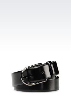 Armani Leather belts Men belt in brushed calfskin