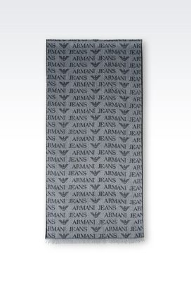 Armani Scarves Men scarf in logoed fabric