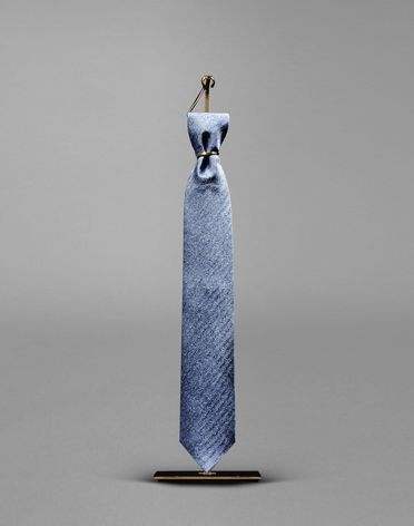 TIE WITH HERRINGBONE MOTIF