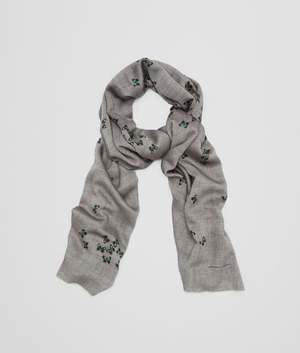 FLANNEL LIGHT GREEN CASHMERE SCARF