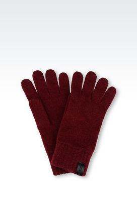 Armani Gloves Men cashmere glove