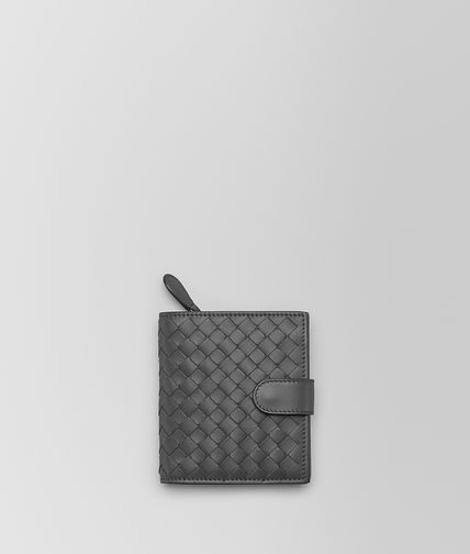 MINI WALLET IN NEW LIGHT GREY INTRECCIATO NAPPA