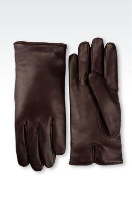 Armani Gloves Men napa leather glove
