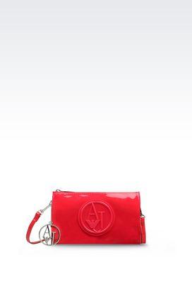 Armani Brieftaschen Für sie minitasche aus kunstlackleder