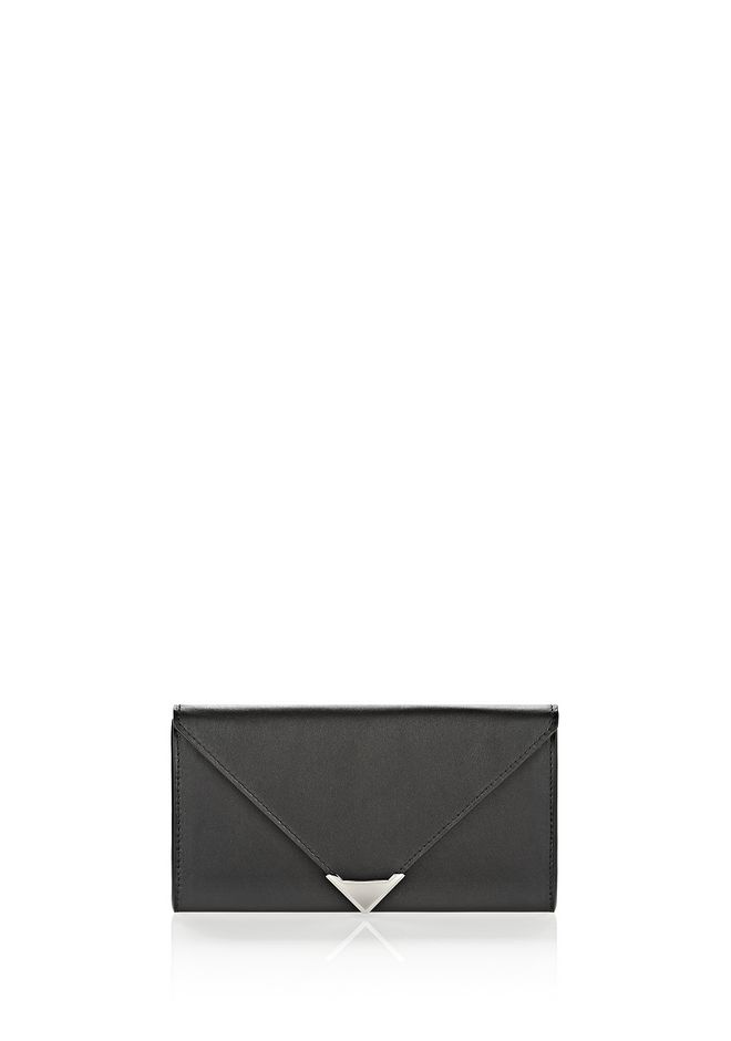 ALEXANDER WANG Wallets Women PRISMA ENVELOPE WALLET IN BLACK