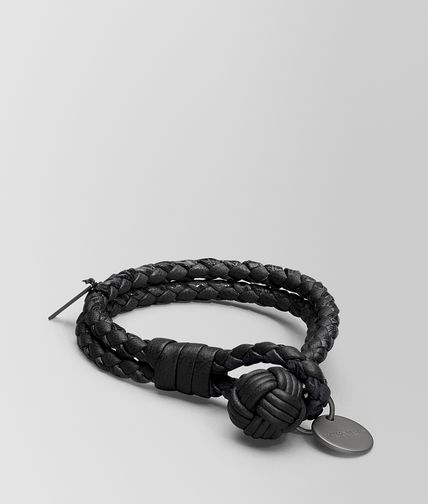 BRACELET IN NERO INTRECCIATO NAPPA AND AYERS