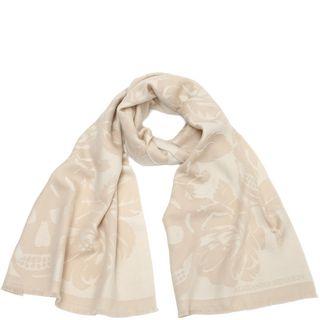ALEXANDER MCQUEEN, Wool Fashion Scarf, Wool Oversize Bloom Scarf