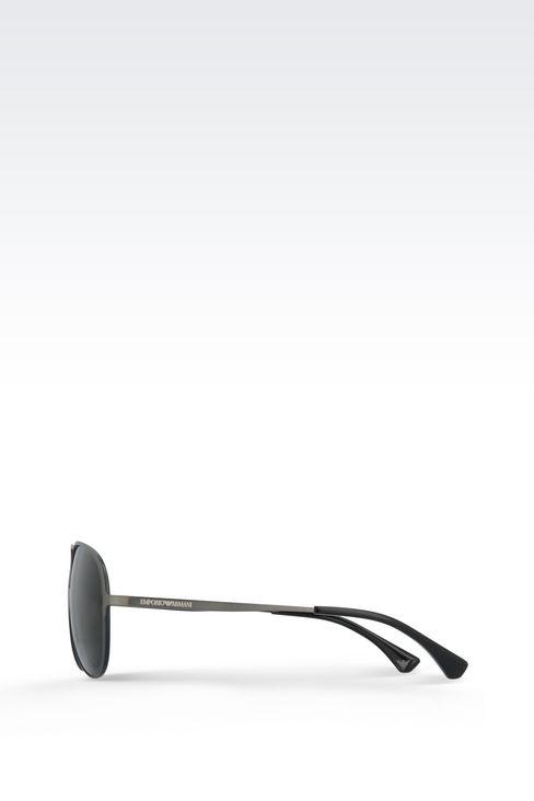 METALLIC PILOT SUNGLASSES : Sunglasses Men by Armani - 3
