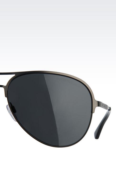 METALLIC PILOT SUNGLASSES : Sunglasses Men by Armani - 4