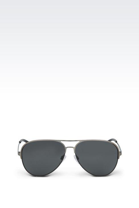 METALLIC PILOT SUNGLASSES : Sunglasses Men by Armani - 1