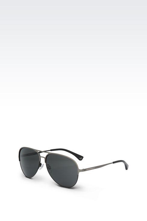 METALLIC PILOT SUNGLASSES : Sunglasses Men by Armani - 2