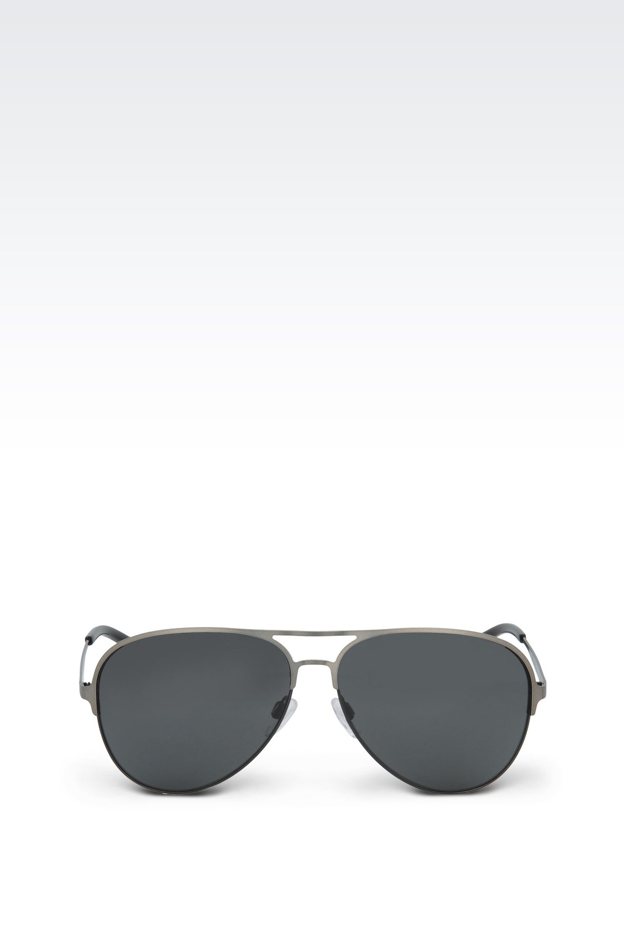 METALLIC PILOT SUNGLASSES : Sunglasses Men by Armani - 0