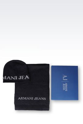 Armani Set Men scarf and hat set with special packaging
