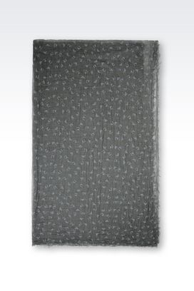 Armani Stoles Women scarf in logoed fabric
