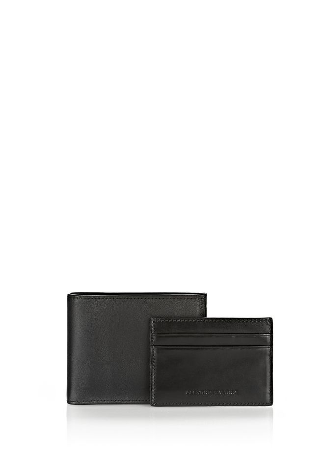 ALEXANDER WANG wallets BI-FOLD WALLET IN SMOOTH BLACK