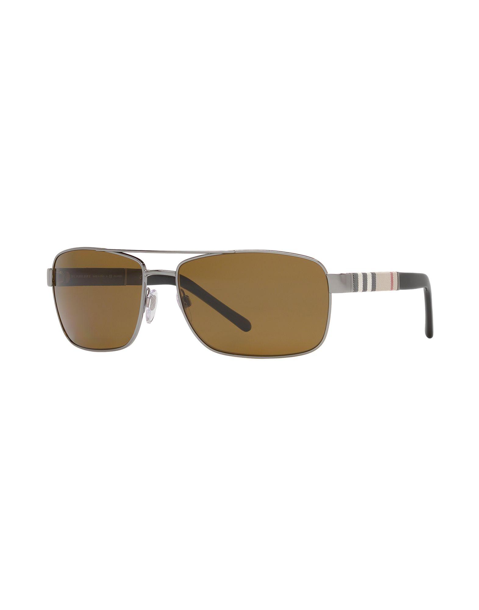 BURBERRY Herren Sonnenbrille Farbe Silber Größe 1