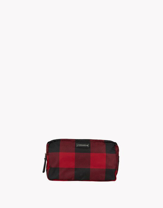 buffalo check donald toiletry bag handbags Man Dsquared2