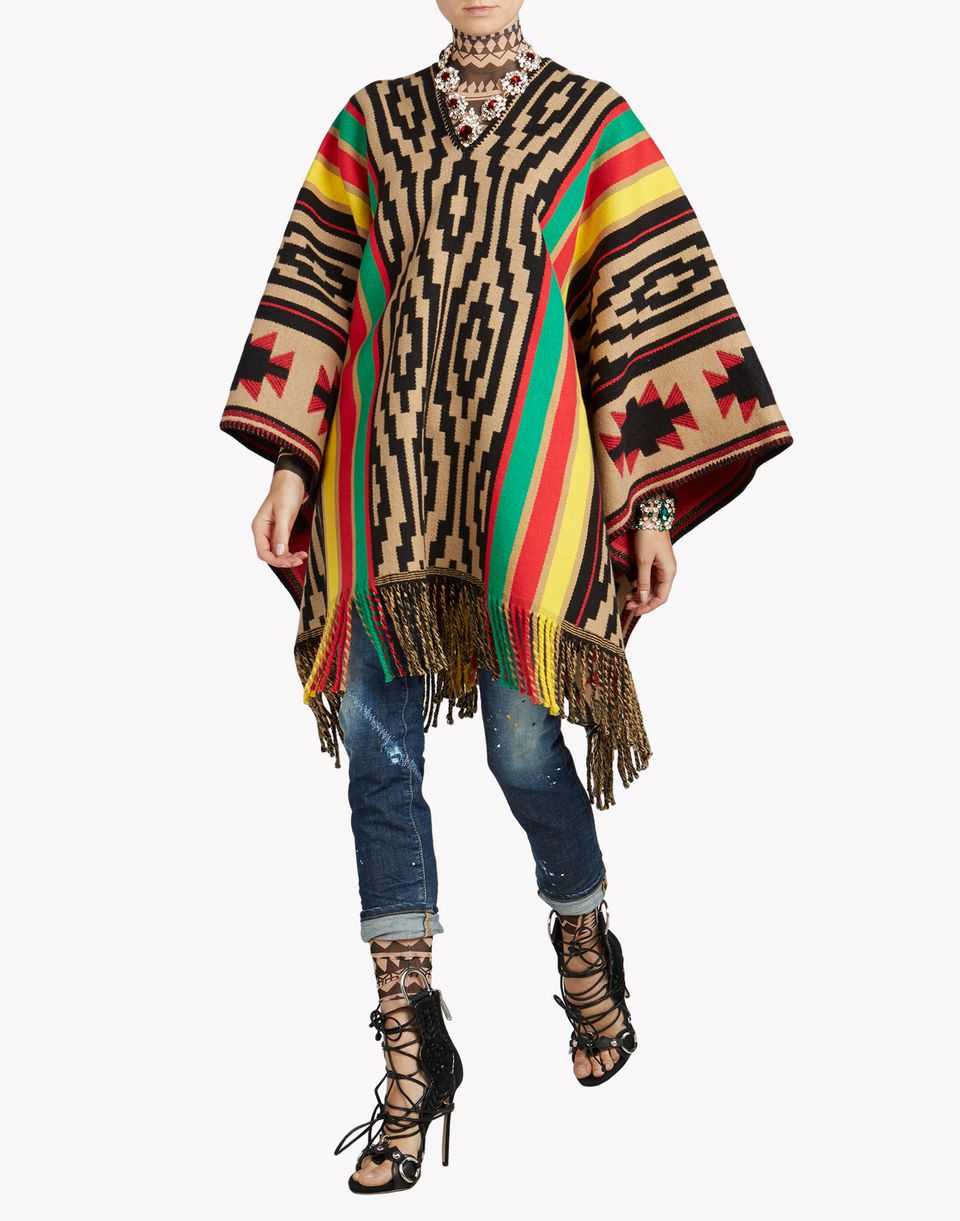 Dsquared2 Eskimo Indian Poncho Capes For Women