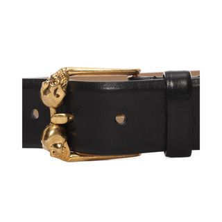 ALEXANDER MCQUEEN, Belt, Two Skull Square Buckle Belt
